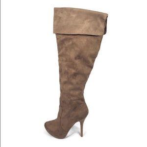 Wild Diva - Suede knee high heeled boots